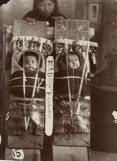 Osage mother and twin babies - circa 1900