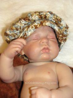 Baby BOY Hat  Photo Prop  Newsboy Cap  NEWBORN by pixieharmony