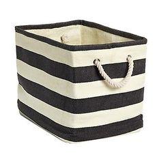 Rugby Stripe Bins decor, rugbi stripe, idea, stripe bin, babi, storag, stripes, rugby, room