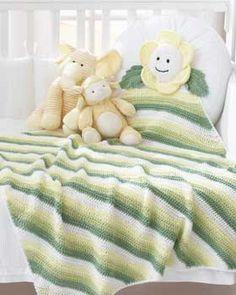 Bernat: Pattern Detail - Softee Baby - Daisy Blanket (crochet)