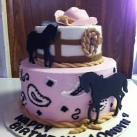 Cowgirl themed cake