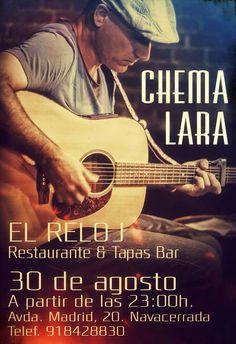 Chema Lara en concierto en Navacerrada