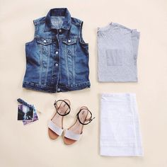 Layer with classic denim.