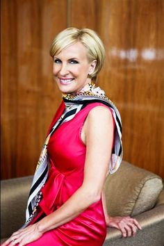 "Mika Brzezinski, co-host of MSNBC's ""Morning Joe"" and author of ""Knowing Your Value"", battling the tv pundit boys daily."