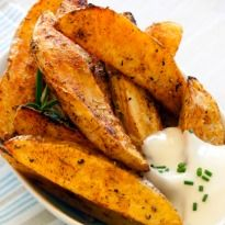 Potato Wedges: Crisp and crunchy, the all time favorite #potato wedges recipe.