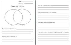 Use this worksheet to compare and contrast ANY book made into a movie. ...