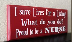Nurse, Nurse Gift, Gift for Nurse, Nurse Sign, Custom Sign, Personalized Sign, Wood Sign