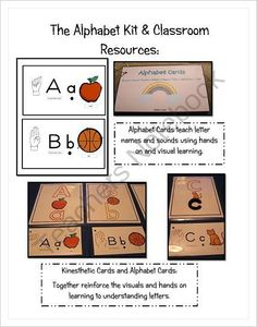 The Alphabet Kit & Classroom Materials - If you want your students to learn their letter names and sounds quickly and retain what they learn this kit has proven huge success to my students as a kindergarten, first grade and special education teacher this works! It even works for students people claim can not learn phonemic skills! My kindergarten students began first grade scoring end of the year first grade DIBELS scores! Here it is! The Alphabet Kit & Classroom Materials Includes: •The Alphab…