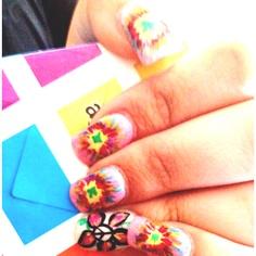 dye nail, nail art, tye dye