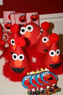 Elmo party hats