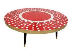 mid-century mosaic table