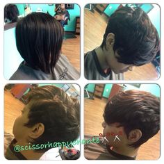 Before And After By @scissorhappychante - http://www.blackhairinformation.com/community/hairstyle-gallery/relaxed-hairstyles/scissorhappychante/ #haircut #transformation #shorthair