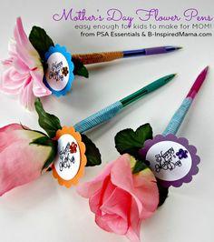Make a Flower Pen for Mom or Grandma for Mother's Day! B-InspiredMama.com