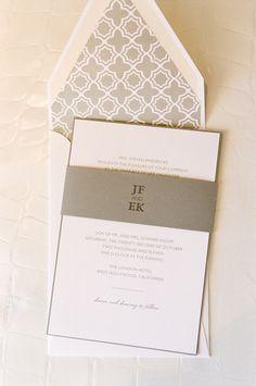 Very Sleek & Modern Wedding Invitations  Design and Styling by kristinbanta.com