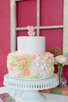 ruffle cake by For the Love of Cake | The Veil Wedding Photography | Glamour & Grace