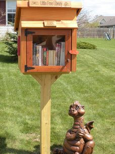 Another Little Free Library design - some people put up two - one for children's books and one for adults.