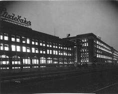 Studebaker Ad Building at Night - South Bend, Indiana by The Pie Shops, via Flickr