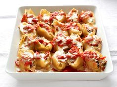 Mushroom-Spinach Stuffed Shells Recipe : Food Network Kitchen : Food Network - FoodNetwork.com