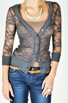 Lacey Cardigan - Charcoal #womensfashion #women #dress #fashion #fall #autumn #2012 #top #skirt #blazer #shirt #jeans #denim #heels #handbag #accessory #sweater #shoes #jacket #shorts #love #like #nice #beautiful #cute #comfy #pretty #party #casual #formal #graphic #vintage #faves #favs #yes #colour #color #cut #need #want #outfit #fun #Lacey Cardigan - Charcoal