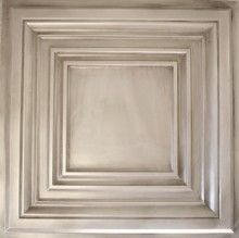 DCT05 Faux Tin Ceiling Tile | Glue Up 2ft x 2ft | Colors Available Coffered Faux Tin Ceiling Tile, $11 each, Decorative Ceiling Tiles