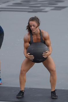 CrossFit Camille with med ball
