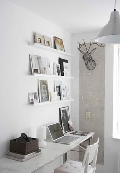 Skinny shelves would be great to put up on walls that you just don't know what else to do with - show off photos, a book, a mirror etc