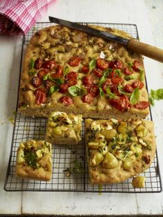 Focaccia bread, 3 ways from Jamie Oliver