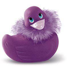A girlie duck....reminds me of Elizabeth Taylor...she loved to wear purple!