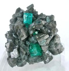 Emerald on Calcite from Columbia