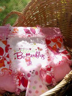 Beautiful Rag quilt. $65.00 social butterfli, rag quilt, beauti rag, sew fun, babi room, homediy project, quilt idea