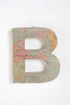 world map letter