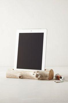 Driftwood iPad Dock