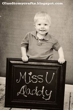 DIY Chalkboard Photo Prop-Could be used for deployment messages, thank you cards, birthday celebrations.etc. Come birthday/Christmas time, just write Thank you and send that as a thank you card