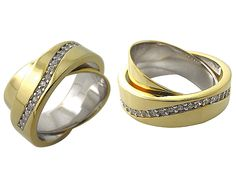 925 Sterling Silver with 18k gold plate swivel spin Ring