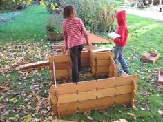 Like Lincoln Logs, but life-sized. | 39 Coolest Kids Toys You Can Make Yourself @Lauren Davison Herring