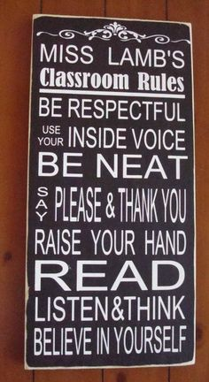 Personalized Teacher Classroom Rules
