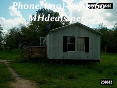 $45,900 A small 2 bedroom 1 bathroom home sitting on .41 acres, and at 16 x 48 or 768 square feet. With a nice sturdy metal siding and roofing, this Clayton home built in 2008 will bring you a nice relaxing and secure environment. A all electric home, providing you safer option to cook. Only blocks From the school. Nice and quiet lot with trees. Close to shopping area.(210)-887-2760 http://mhdeals.net/gallery/singlewide-trailers/Land-home-2008-Clayton-Sierra-Vista-Smithville-TX LIC 36155