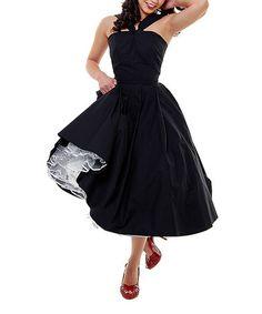 50s halter, fashion, style, cloth, dresses, uniqu vintag, halter dress, swing dress, black