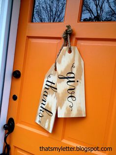 Ballard Designs Inspired Wood Tags! via That's My Letter