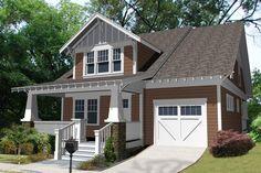 Efficient craftsman style bungalow.  Plan 461-25.