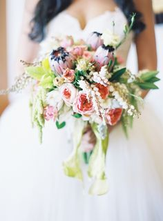 impeccable wedding bouquet from HuntLittlefield.com // photo by JenHuangPhotography.com