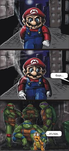 Funny, Mario, Teenage Mutant Ninja Turltles