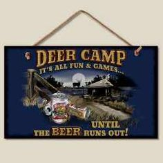 Deer Camp Wood Sign