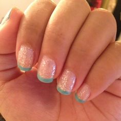 2 coats of Sally Hansen Polar Bare, 1 coat of Paola and the tips are China Glaze's For Audrey