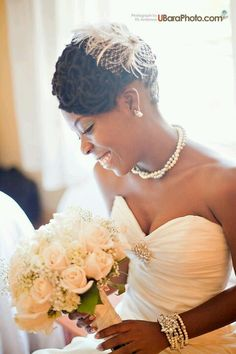 Beautiful Natural Hair Bride