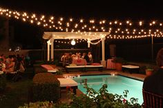 These outdoor globe string lights add a festive, yet classy touch, to an summer outdoor event.