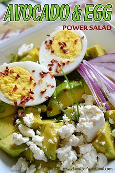 Avocado & Egg Power Salad | FoodForYourGood.com #avocado_egg_salad