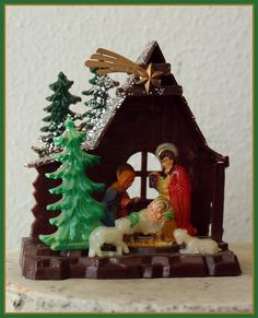 We had these little Nativities
