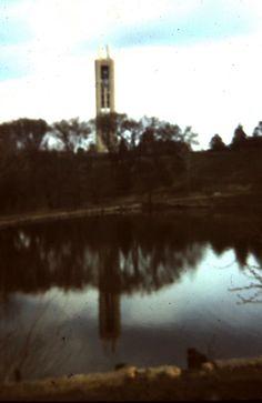 KU Campanile & Potter's Lake, 1968.