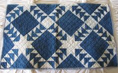 Antique Flying Geese Crib Quilt
